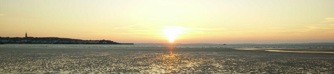 Couché de soleil à la plage du Ris